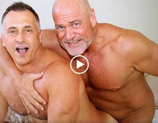 Videos with two muscled daddies always get us very turned on. Even more than father/son type. These two guys clicked and enjoyed an afternoon full of sex and we were there to film it. Yes!
