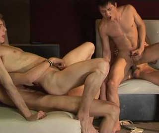 Watch these twinks as they get together in their club. They love nothing more than to get naked, and start bareback fucking. This film has plenty of deep throat action and cum eating.