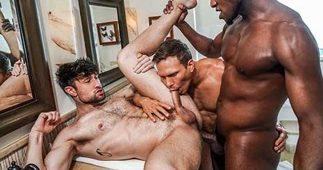 Andre Donovan and Ethan Chase double penetrate Drew Dixon on Lucas Entertainment. Andre Donovan's big black cock has been aching to tear up Drew Dixon's ass again for awhile now.
