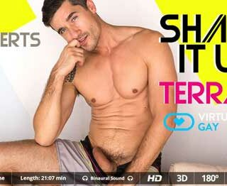 Our hottest gay porn series in virtual reality fights back this summer. Starring this time striking hunk Jay Roberts; a mature hottie with an amazing body that.. well, hard thing here is watching him and not cumming right away.